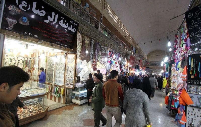 بازار رضا,بازار رضا مشهد,تاریخچه بازار رضا مشهد,