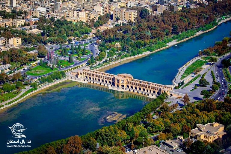 نمای سی و سه پل اصفهان