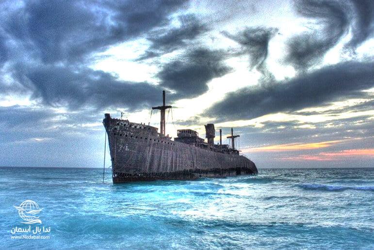 کشتی یونانی یکی دیگر از جاذبه های تور کیش